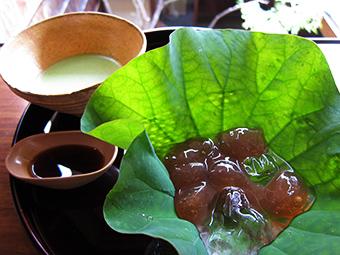 堺町 茶菓席 8月の季節限定メニュー 蓮のつゆ