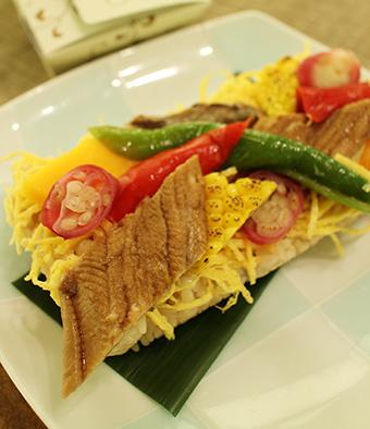 ミッドランドスクエア店期間限定「煮穴子と夏野菜のちらし寿司」