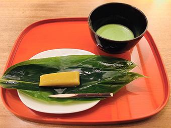 10月の期間限定茶菓席メニュー 笹の香菓子 「笹くり」
