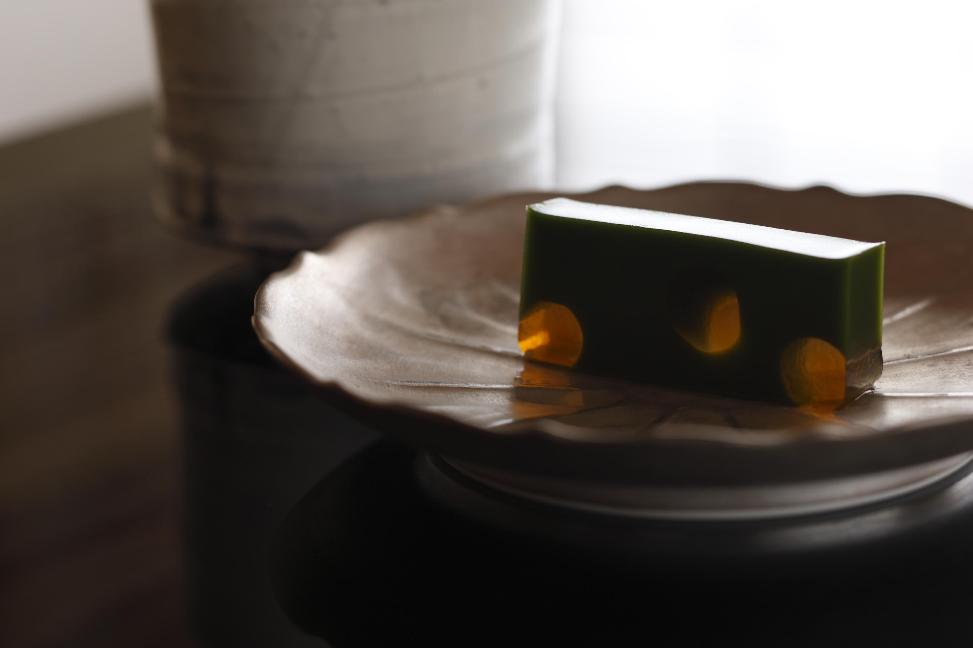 7月の茶菓席メニュー「笹ほたる」